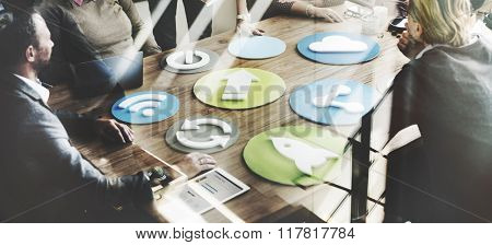 Business Team Meeting Discussion Networking Sharing Concept
