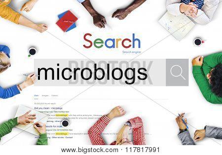 Microblog Blogging Social Media Online Concept
