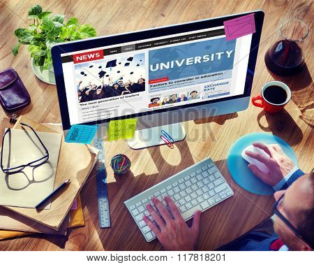 University Education Knowledge Wisdom Studying Concept