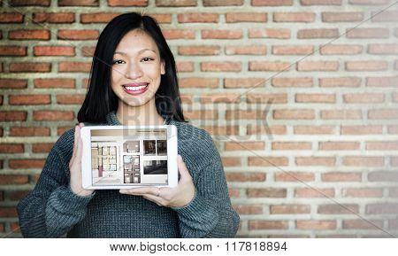 Interior Design Digital Tablet Modeling Concept