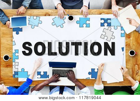 Solution Problem Solving Decision Progress Concept