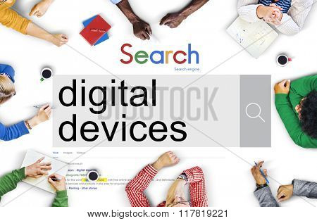Digital Device Electronic Smart phone Computer Concept