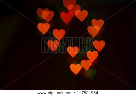 Background With Colored Bokeh. Background To The Valentine's Day