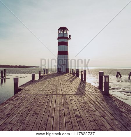 Filtered image of lighthouse