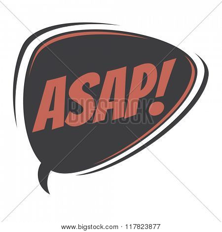 asap retro speech balloon