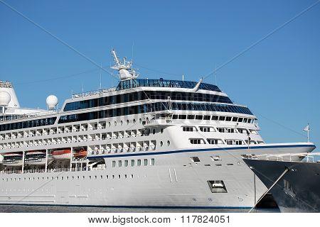 White Modern Ocean Passenger Liner