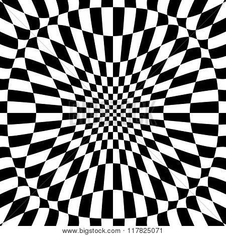 Checkered Background Design Raster Illustration