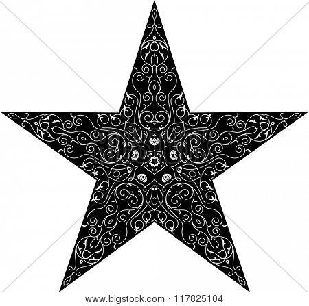 Tattoo Star Symbol Raster Illustration
