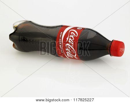 Kuala Lumpur Malaysia Jan 18th 2016,coca cola bottle on the white background