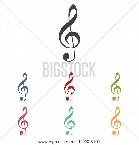 Violin clef icon