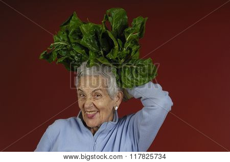 Senior Woman With Chard