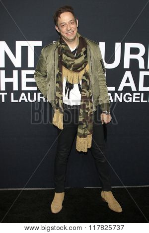 LOS ANGELES - FEB 10: Jamie Hince arriving at the Saint Laurent fashion show at the Hollywood Palladium on February 10, 2016 in Los Angeles, California