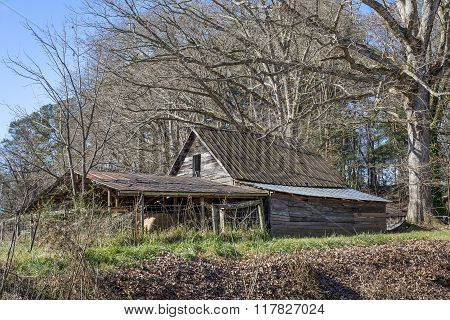 Old Shed In The Appalachian Mountains In Autumn -  Georgia