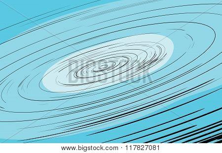 Fast Moving Hurricane Illustration