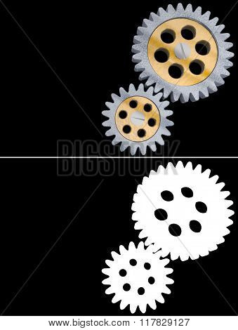 gear alpha channel transparency transparent background metal mechanic machine engineering design