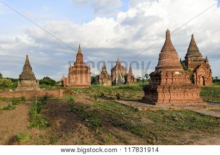 Shwe Sandaw Pagoda in Bagan at sunrise, Myanmar