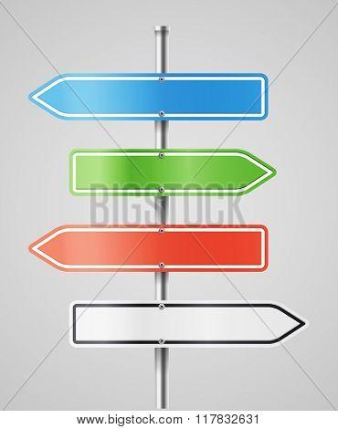 Color navigashion boards