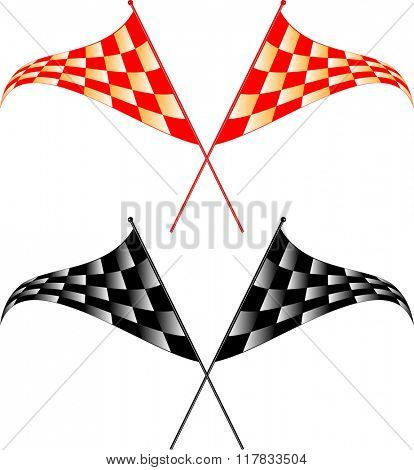 Race Flag Various Designs, Vinyl Ready Raster Illustration