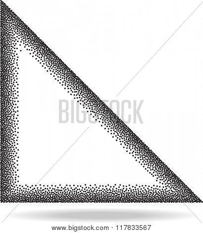 Star Stipple Effect Raster Illustration