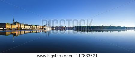 Stockholm city in morning light
