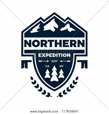Mountain Banner Badge