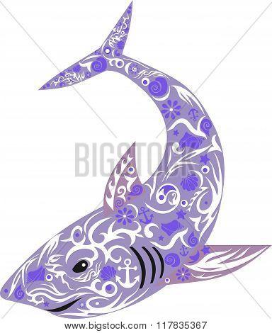 shark violet, lilac,