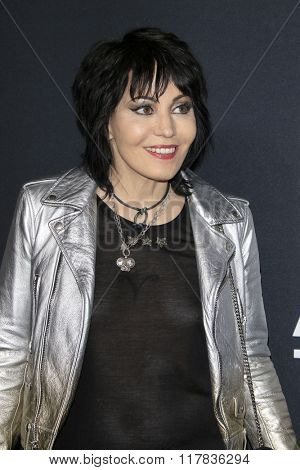 LOS ANGELES - FEB 10:  Joan Jett at the SAINT LAURENT At The Palladium at the Hollywood Palladium on February 10, 2016 in Los Angeles, CA
