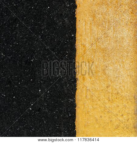 Yellow Line On The Road
