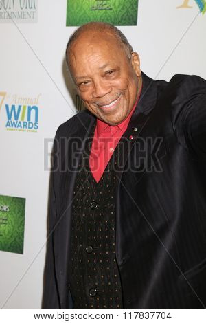LOS ANGELES - FEB 10:  Quincy Jones at the 17th Annual Women's Image Awards at the Royce Hall on February 10, 2016 in Westwood, CA