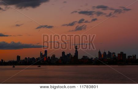 Melbourne City Skyline View