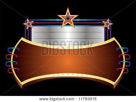 Banner brilhante com estrelas