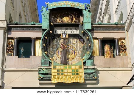Ankeruhr (anker Clock) Astronomical Clock In Vienna
