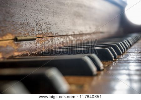 Worn Piano Keyboard