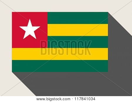 Togo flag in flat web design style.
