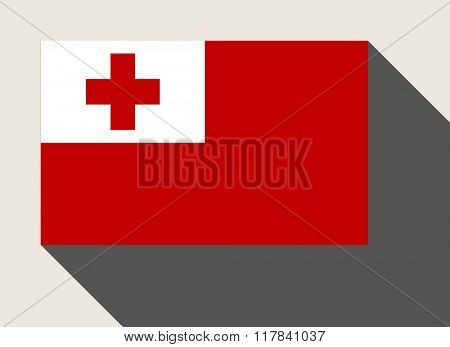 Tonga flag in flat web design style.