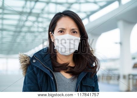 Woman wearing mask at Outdoor