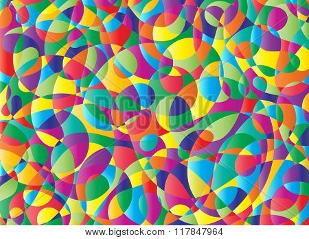 Colorful Abstract Poster Painting Raster Illustration