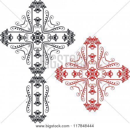 Christian Cross Design Raster Art