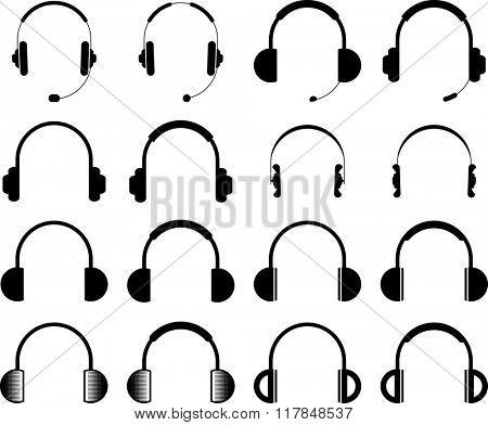 Headphone Icon Symbol Raster Illustration