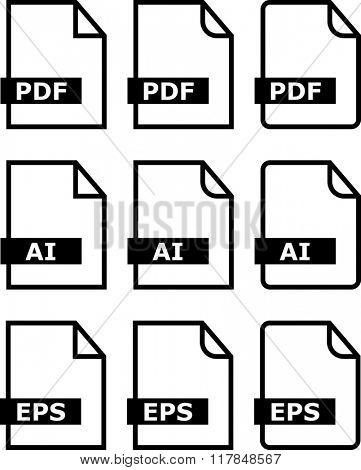 File Icon Pdf Ai Eps Symbol Raster Illustration
