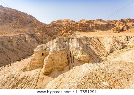 Cave In Qumran, Where The Dead Sea Scrolls Were Found