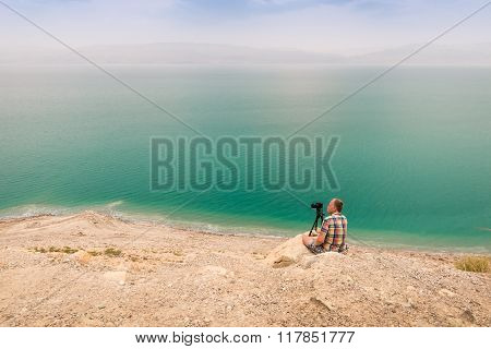Photographing At Dead Sea Coast, Israel