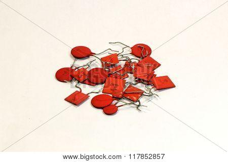 Radio components - a set of capacitors