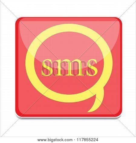 icon sms vector button