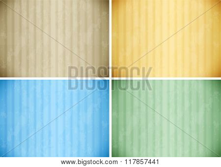 Wallpaper design in four colors illustration