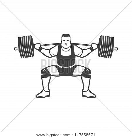 Squat Powerlifting Logo