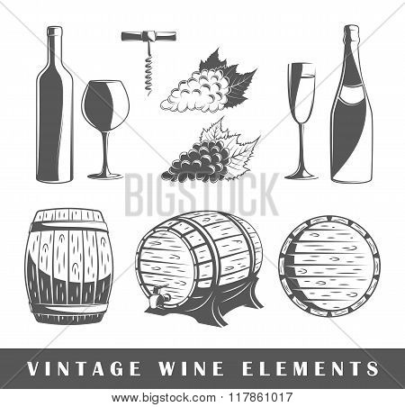 Set Of Elements Of The Wine