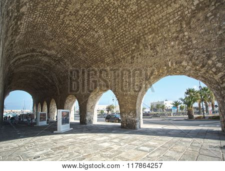 The remains of The Arsenal in Heraklion.Crete.Greece 16.09.2015.