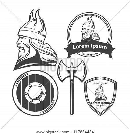 Viking Head Logo Elements
