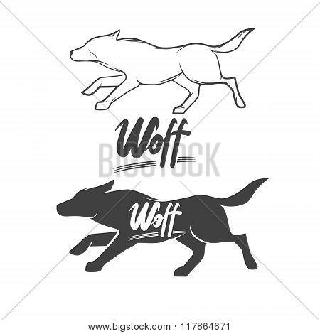 Wolf Logo Lettering